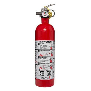 Kidde 2 lb BC Fyr Fyter Extinguisher w/ Metal Valve & Plastic Strap Bracket (Disposable)