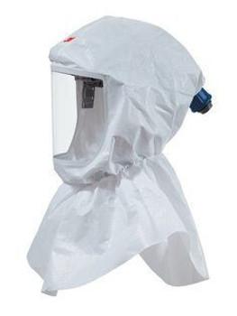 3M Versaflo Replacement Hood with Inner Collar, S-605-10, for Premium Head Suspension, 10/case