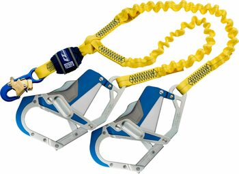 3M DBI-SALA EZ-Stop 100% Tie-Off Shock Absorbing Lanyard 1246409 - Yellow