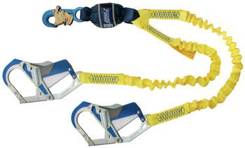 3M DBI-SALA Force2 Elastic 100% Tie-Off Shock Absorbing Lanyard 1246415 - Yellow