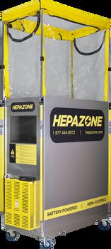 Qualitair HepaZone 24 Battery Powered Metal Cabin Work Enclosure - HZ-M2