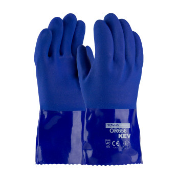 PIP XtraTuff™ Oil Resistant PVC Glove with Kevlar® Liner and Rough Grip Cut A3 - 58-8658K