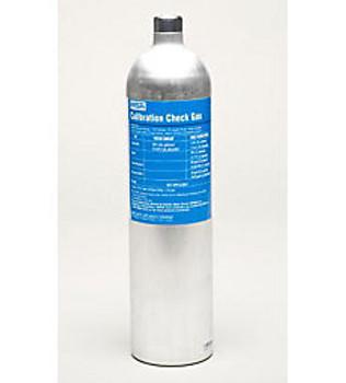 MSA 58L RP Cylinder, 60PPM CO, 20 PPM H2S, 15% O2, 1.45% CH4, 2.5% CO2 - 10103262