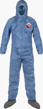 Lakeland MicroMax VP Coverall - Hood, Attached Boots with Elastic Wrist - MVP414