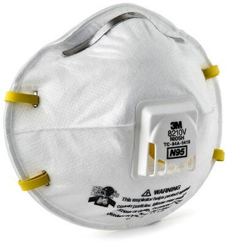 3M 8210V N95 Particulate Dust Mask with Cool Flow Exhalation Valve (10 Masks)