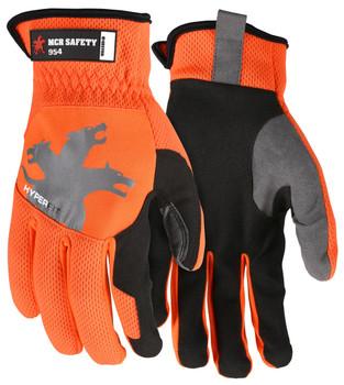 MCR Safety Orange HyperFit Mechanics Gloves 954