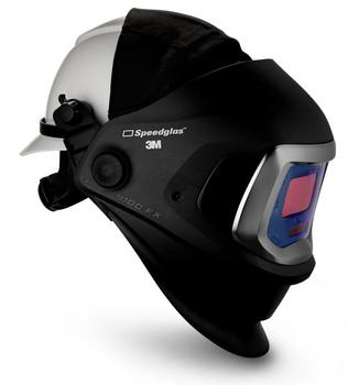 3M Speedglas 9100 FX Welding Helmet 06-0600-10HHSW - with Hard Hat SideWindows and ADF 9100V