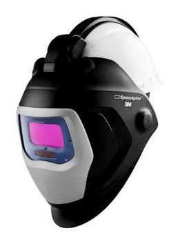 3M Speedglas Welding Helmet 9100 QR - 06-0100-10QR - with Auto-Darkening Filter 9100V and Hardhat - H-701R