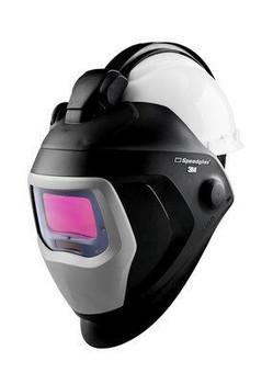 3M Speedglas Welding Helmet 9100 QR - 06-0100-20QR - with Auto-Darkening Filter 9100X and Hardhat - H-701R