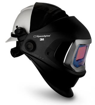 3M Speedglas 9100 FX Welding Helmet 06-0600-20HHSW - with Hard Hat - SideWindows and ADF 9100X