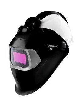 3M Speedglas Welding Helmet 100 QR - 07-0012-31BL-QR - with Auto-Darkening Filter 100V and Hardhat - H-701R