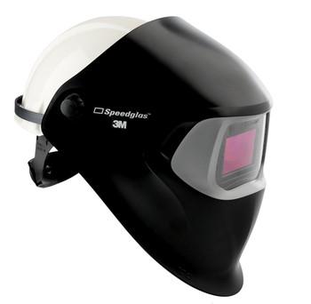 3M Speedglas 100 Welding Helmet Black 07-0012-31BL-HH - with Hard Hat - Hard Hat Adapter - and ADF 100V