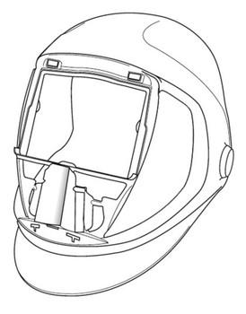 3M Speedglas 9100 Welding Helmet 06-0300-52 - No Headband and Silver Front Panel