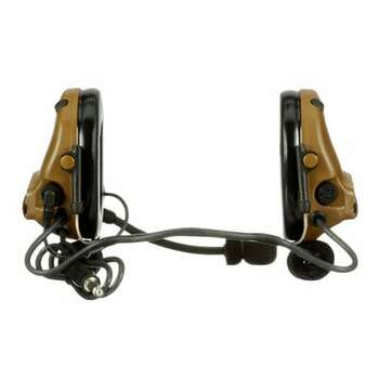 3M PELTOR ComTac V Headset MT20H682BB-47 CY - Neckband - Single Lead - Standard Dynamic Mic - NATO Wiring - Coyote