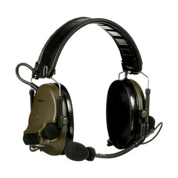 3M PELTOR ComTac V Headset MT20H682FB-19 GN - Foldable - Dual Lead - Standard Dynamic Mic - NATO Wiring - Green