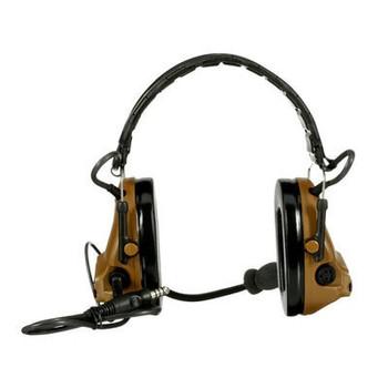 3M PELTOR ComTac V Headset MT20H682FB-47 CY - Foldable - Single Lead - Standard Dynamic Mic - NATO Wiring - Coyote