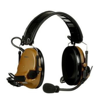 3M PELTOR ComTac V Headset MT20H682FB-19 CY - Foldable - Dual Lead - Standard Dynamic Mic - NATO Wiring - Coyote