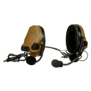 3M PELTOR ComTac V Headset MT20H682BB-19 CY - Neckband - Dual Lead - Standard Dynamic Mic - NATO Wiring - Coyote