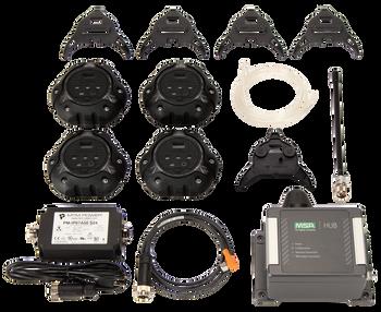 MSA ALTAIR io360 Area Gas Detector Kit - Black [LEL, O2, Co, H2S]