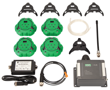 MSA ALTAIR io360 Area Gas Detector Kit - Green [LEL, O2, Co, H2S]