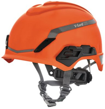 MSA V-Gard H1 Safety Helmet - No Vent - Orange - Fas-Trac III Pivot Suspension