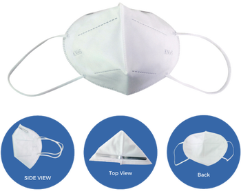 KN95 Disposable Half Face Dust Mask - 20/pk