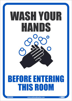 Wash Your Hands Before Entering This Room - 14X10 - Removable PS Vinyl - WH2PBR