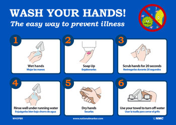 Wash Your Hands - 10X14 - Removable PS Vinyl - WH5PBR