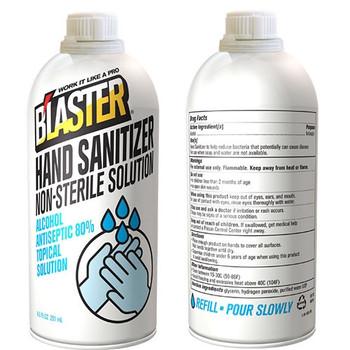 Blaster Screw Top Liquid Hand Sanitizer 8.5 FL OZ - Case of 12 Bottles 8-HS-PR