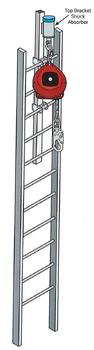 Miller Fixed Ladder Top Bracket & Self-Retracting Lifeline  - Up To 65 FT!