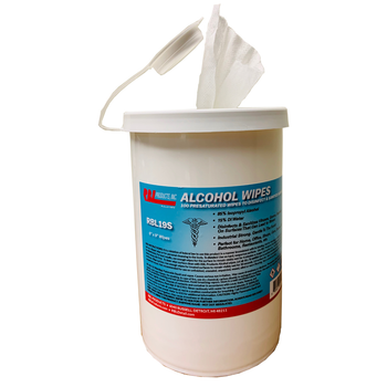 Alcohol Disinfecting & Sanitizing Wipes - 85% Alcohol - Case of 6 (150 wipes per container)