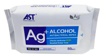 Alcohol Disinfecting & Sanitizing Wipes - 75% Alcohol -  (50 wipes per pack)