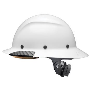 Lift Safety DAX Fiber Resin Full Brim Hard Hat - Gloss White - HDF-15WG