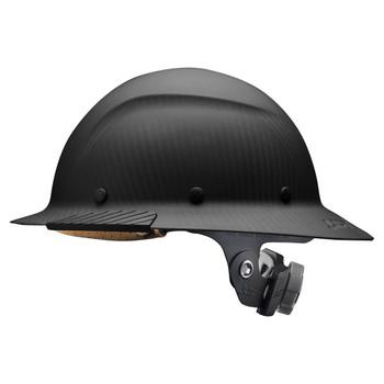 Lift Safety DAX Carbon Fiber Full Brim Hard Hat - Matte Black - HDFM-17KG