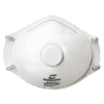 Gateway TruAir Vented N95 Particulate Dust Disposable Respirator - 10 Pack - 80302V