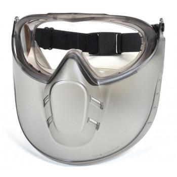 Pyramex Capstone Clear Anti-Fog Lens with Face Shield - GG504TSHIELD