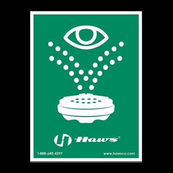 Haws Universal Eyewash Sign - SP175