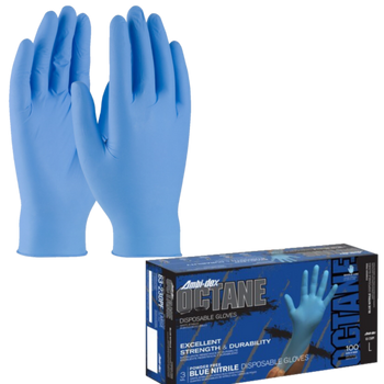 PIP Ambi-dex Octane Nitrile Glove Powder Free with Textured Grip - 3 Mil - 63-230PF