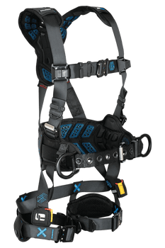 FallTech FT-One 3D Construction Belted Harness Quick Connect Adjustments - Large - 8123BQCL