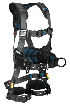 FallTech FT-One 3D Construction Belted Harness Tongue Buckle Leg Adjustments - Large - 8127BL