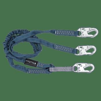 FallTech 6' Internal Energy Absorbing Lanyard Double-leg with Steel Snap Hooks - 8259Y