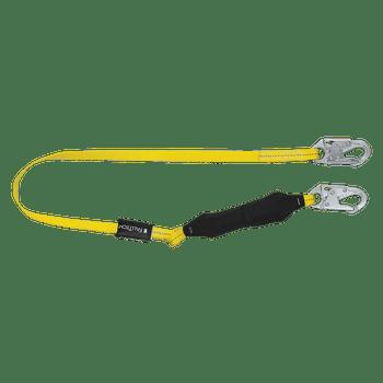 FallTech 6' Soft Pack FT Basic Energy Absorbing Lanyard Single-leg with Steel Snap Hooks - 8256LT