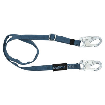 FallTech 6' to 10' Adjustable Length Restraint Lanyard with Steel Snap Hooks - 820910