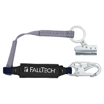 FallTech Trailing Rope Adjuster with 3' ViewPack Energy Absorbing Lanyard - 8368
