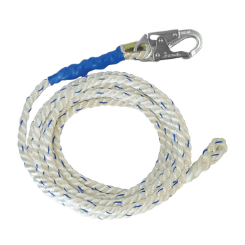 FallTech 150' Premium Polyester Blend Vertical Lifeline with Back-spliced End - 81505