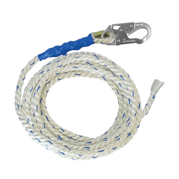 FallTech 100' Premium Polyester Blend Vertical Lifeline with Taped End - 8200T