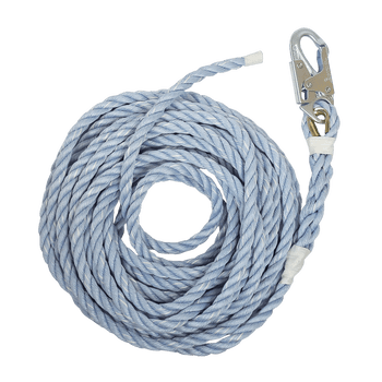FallTech 50' Construction-Grade Vertical Lifeline with Taped End - 8149T