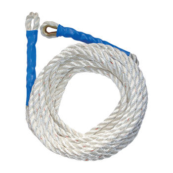 FallTech 25' Premium Polyester Blend Vertical Lifeline with Thimble-eye and Back Splice - 8126