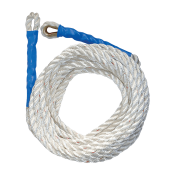 FallTech 50' Premium Polyester Blend Vertical Lifeline with Thimble-eye and Back Splice - 8151