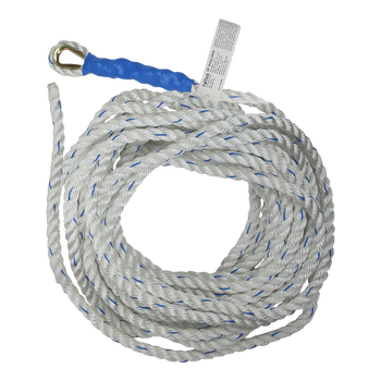 FallTech 50' 50' Premium Vertical Lifeline with Thimble-eye and Taped End - 8151T